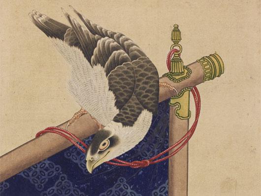 葛飾北斎 「鷹図」 紙本 着色 太田記念美術館開館五周年特別展葛飾北斎展出品